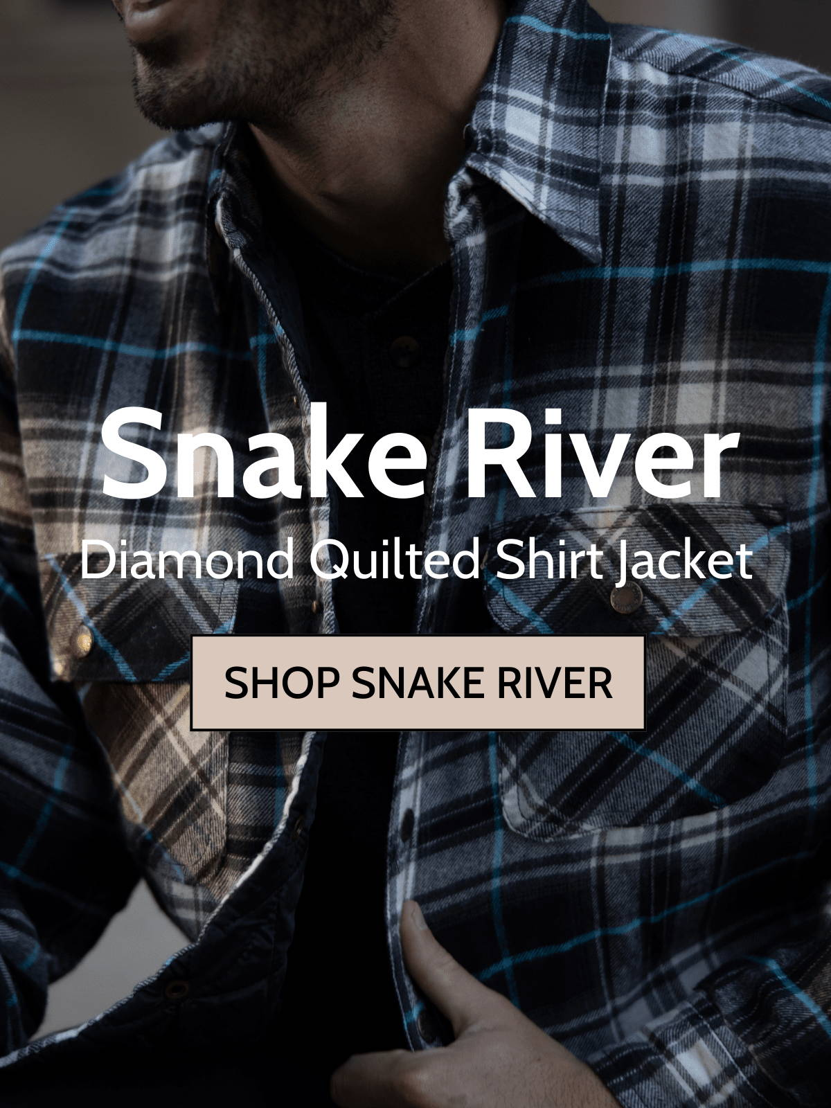 Man wearing snake river shirt jacket