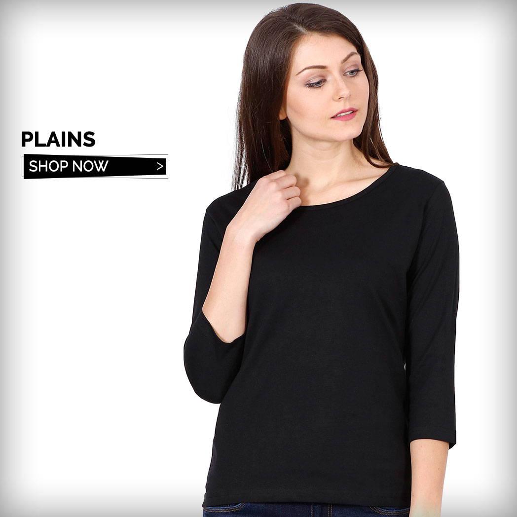 Plain T-Shirts for Women