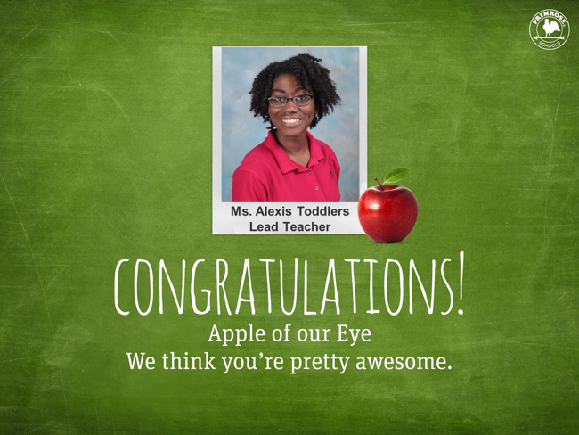 Celebrate with Our Apple of Our Eye