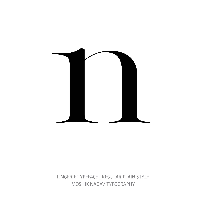 Lingerie Typeface Regular Plain n