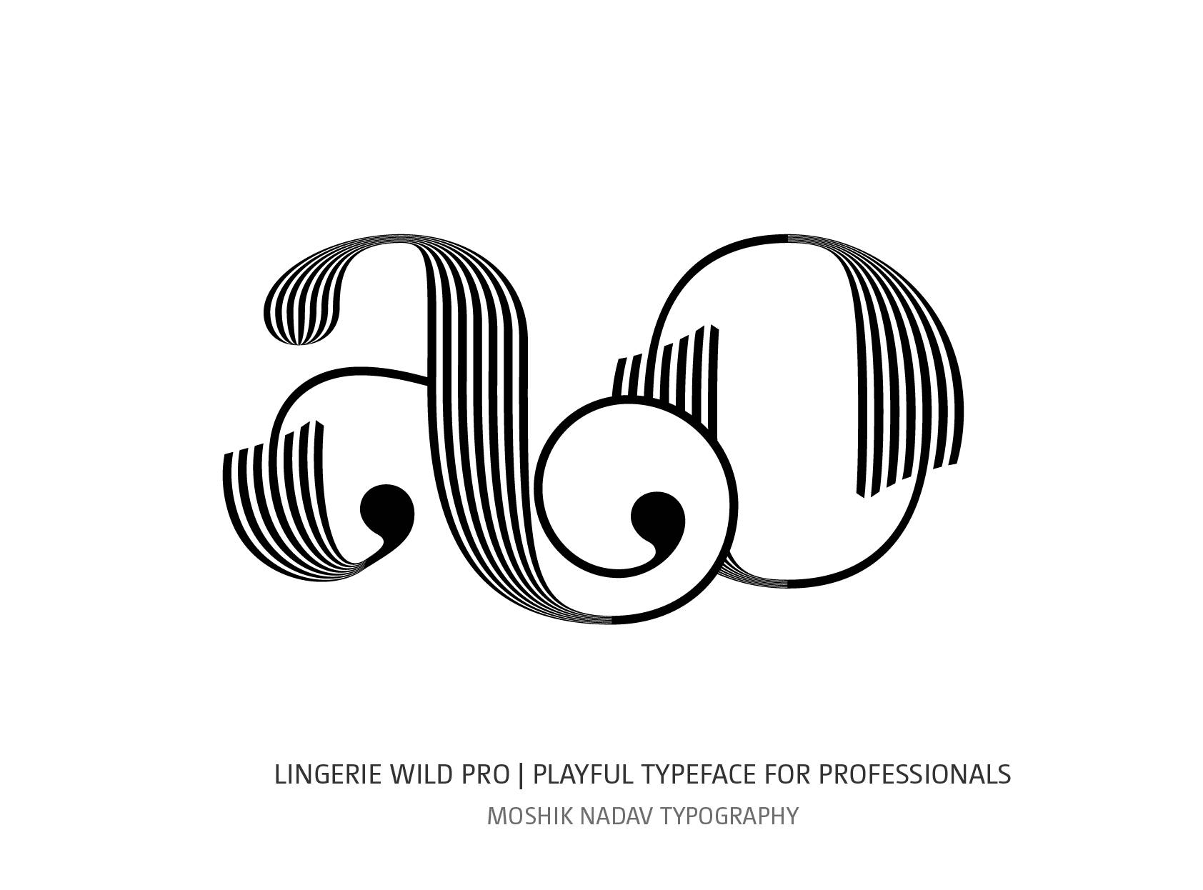ao fashion font designed with Lingerie Wild Pro Typeface