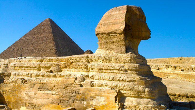 Sphinx and Pyramids, Cairo, Egypt