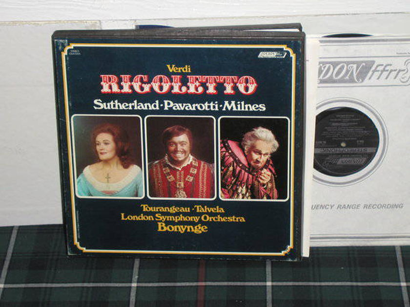 Bonynge/LSO - Verdi Rigoletto London ffrr UK Decca press