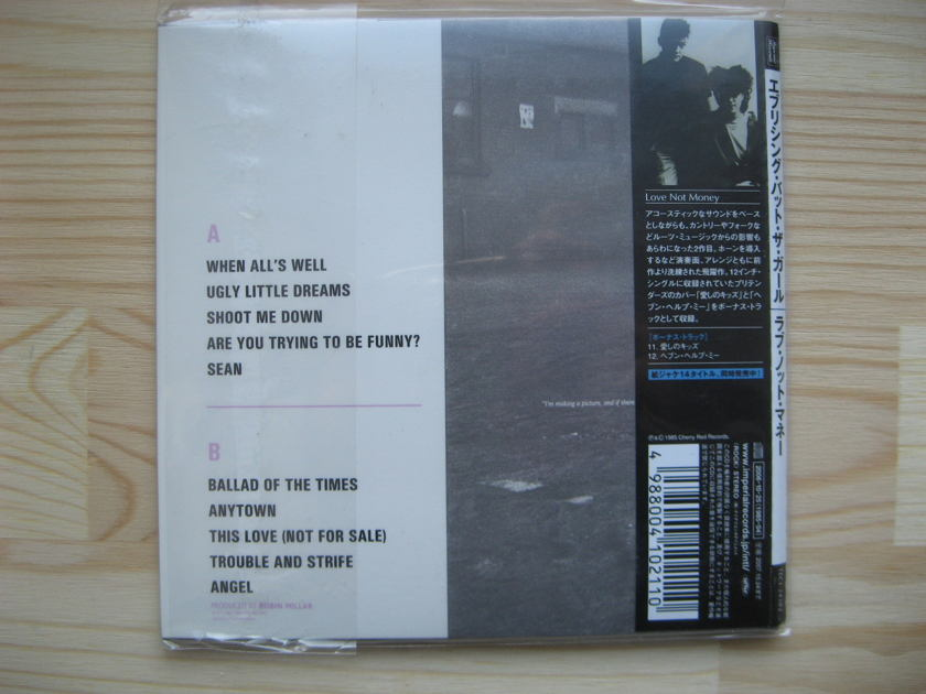 Everything But the Girl  - Love Not Money Japan mini-lp