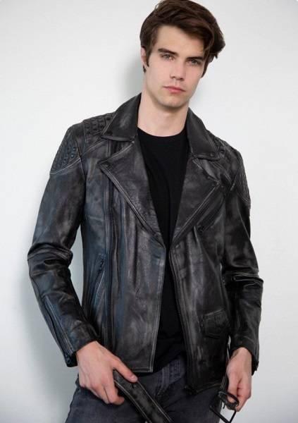 Best Men's T-Shirts + Leather Jacket