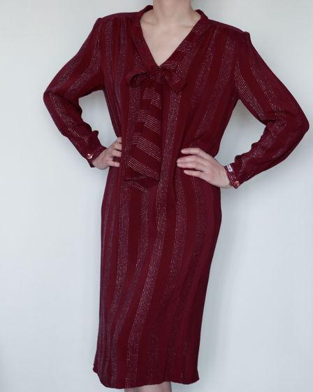 6dabbaab087 Шелковое винтажное платье ягодного оттенка