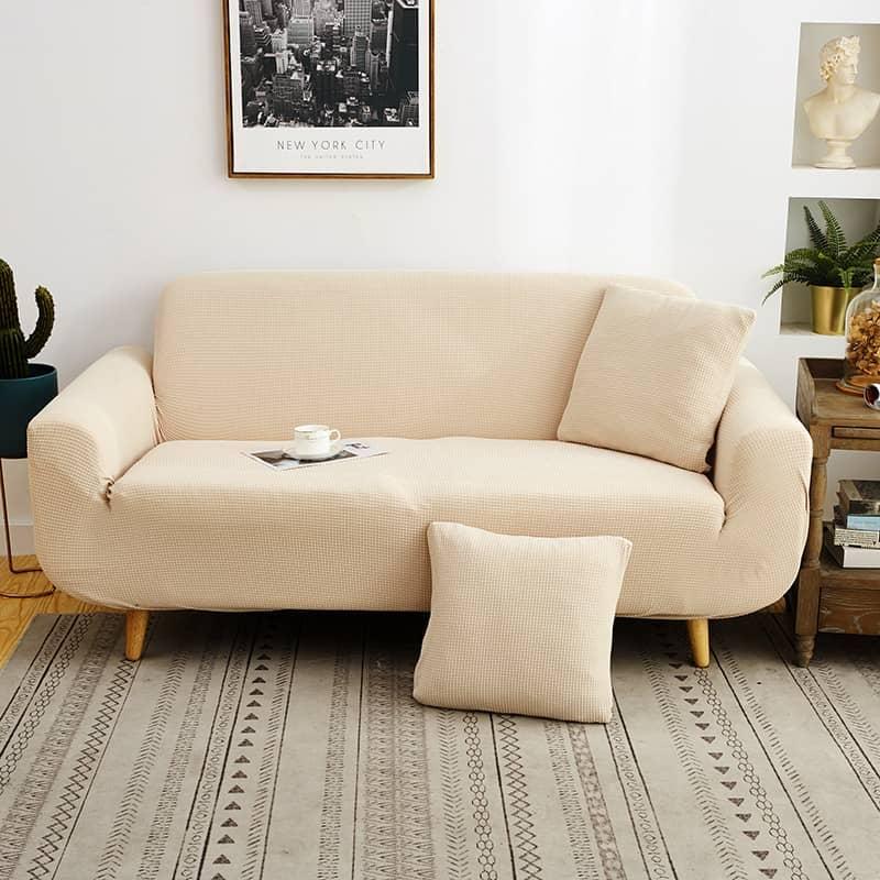 housse de canapé beige