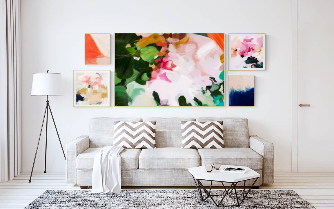 4 Gallery Wall Layout Ideas via Parima Studio #art