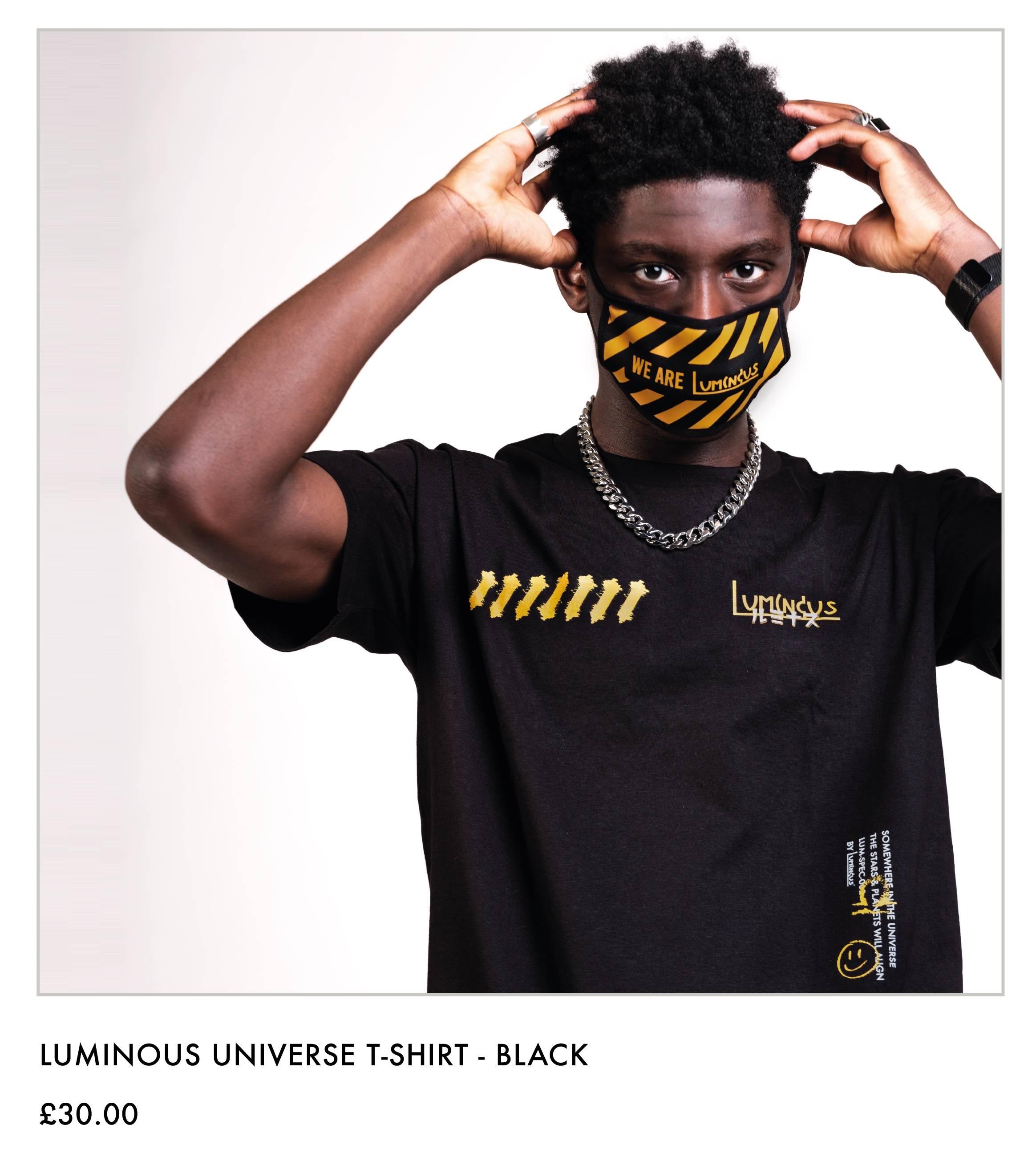 Luminous Universe T-shirt - Black