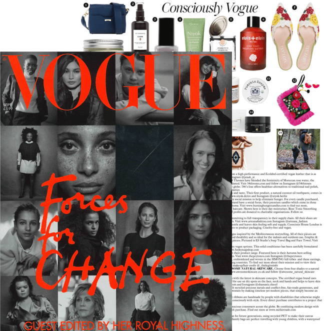 Jenah St. featured in the September issue of Vogue UK