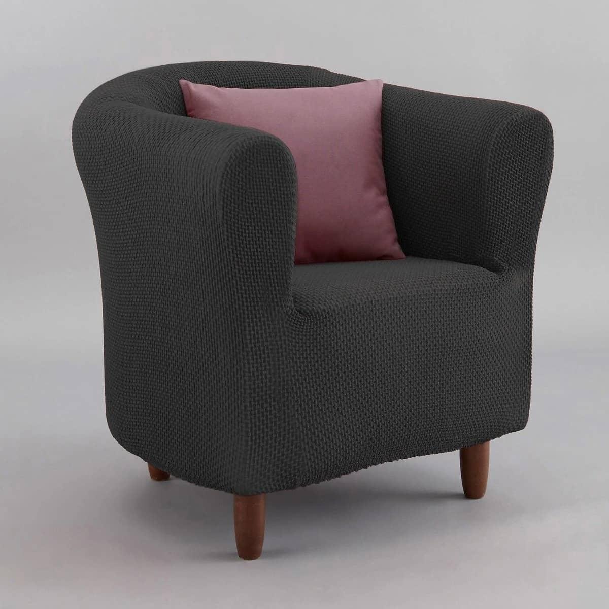 housse de fauteuil grise