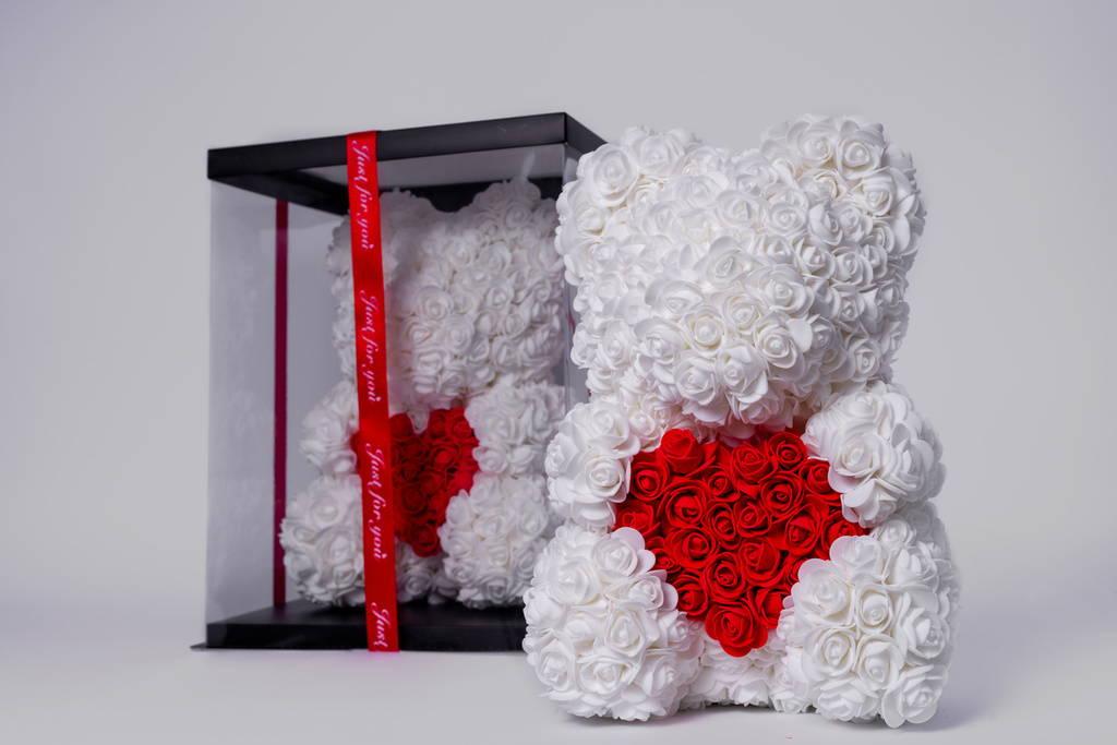 rose bear, rose bears, flower bear