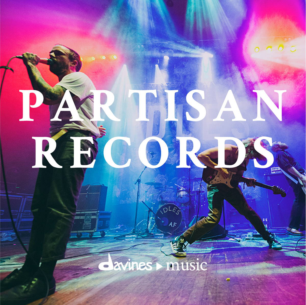"Listen on Spotify to the Davines ""Partisan Records"" playlist"