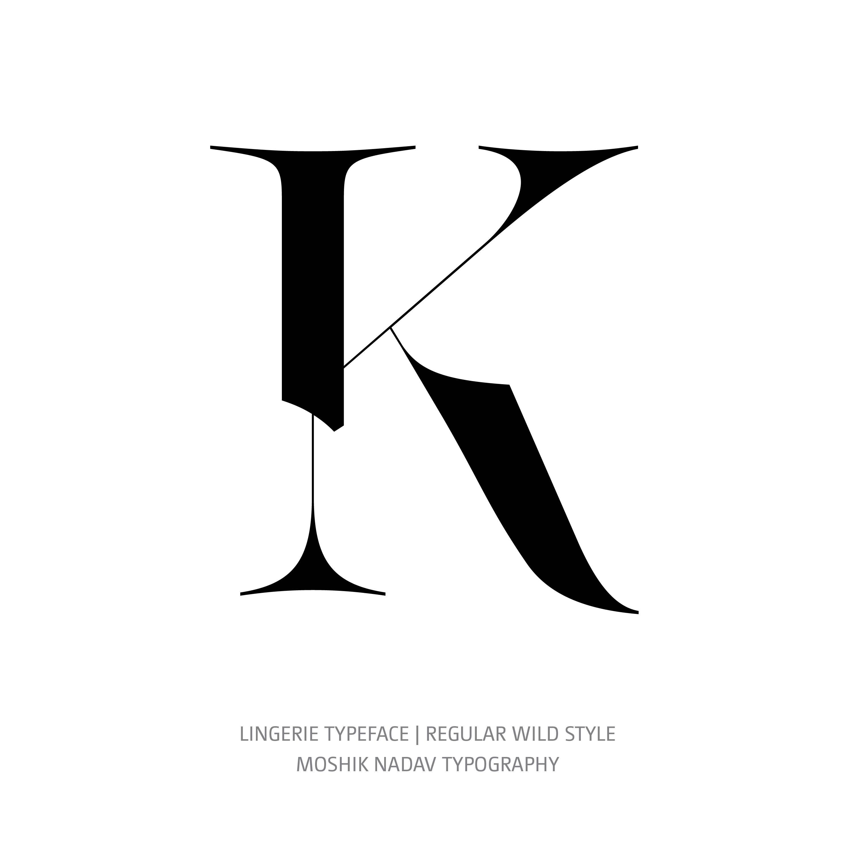 Lingerie Typeface Regular Wild K
