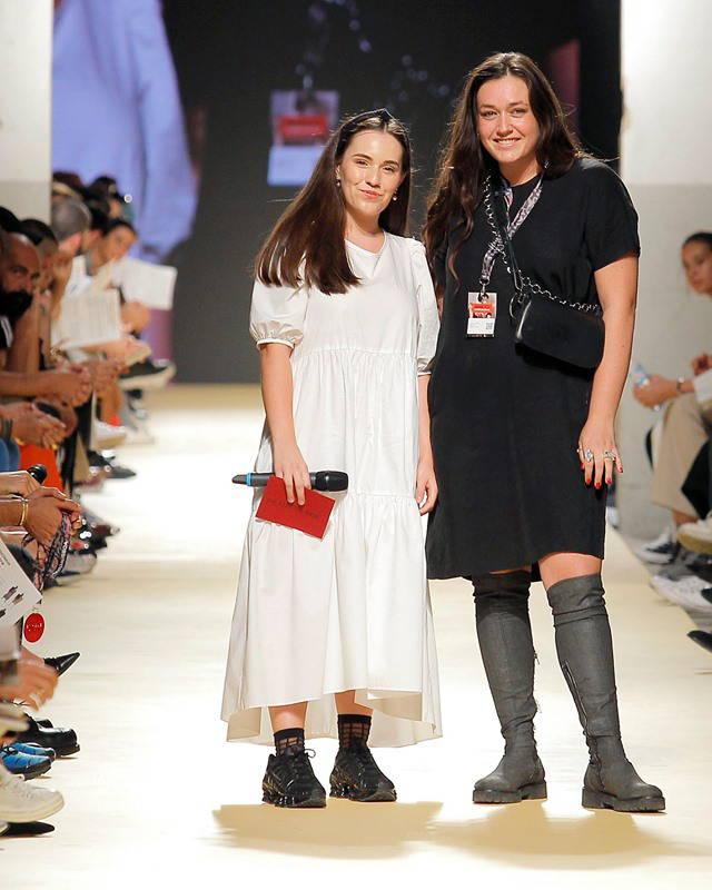 Designer Naomi Marcela behind Cêlá received the The Feeting Room award at ModaLisboa Collective on October 2019