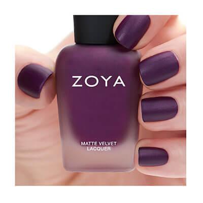 Zoya Matte Velvet Nail Lacquer in Iris