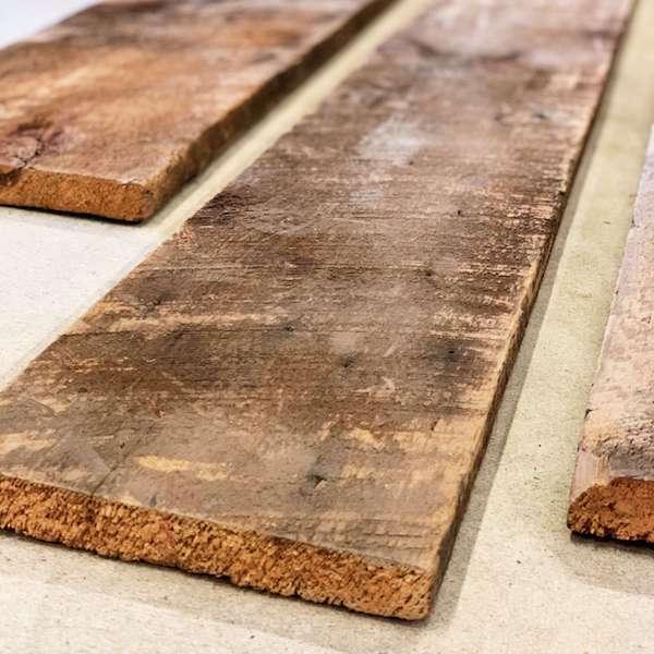 Circle sawn barn wood board, 1 inch, brown
