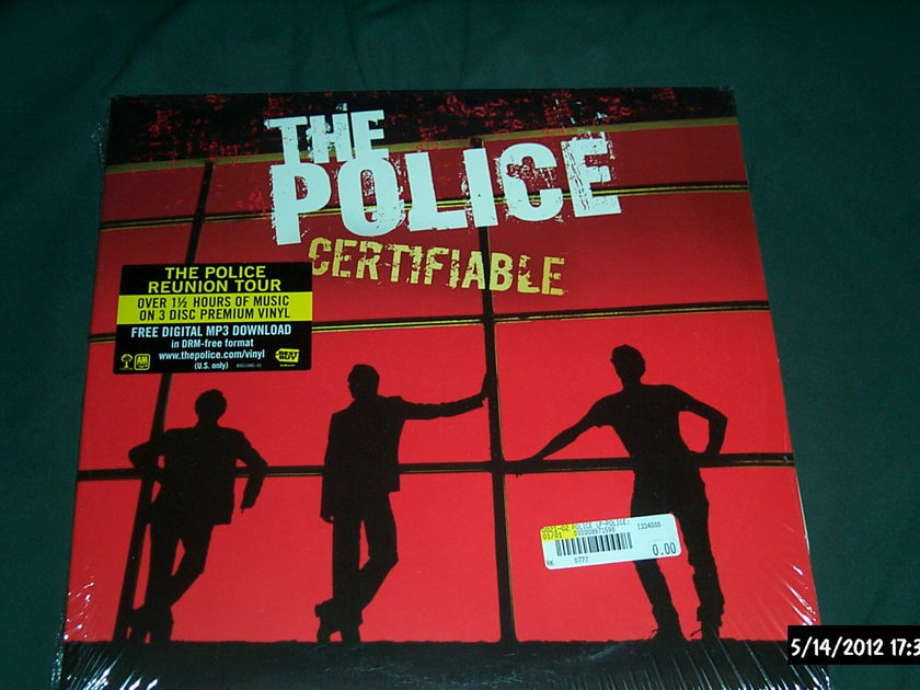 The police - Sealed 3 Lp Vinyl certifiable