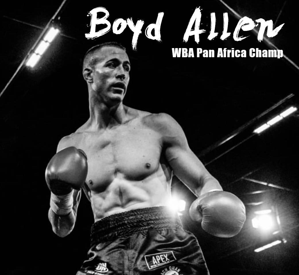 Photo of Boyd Allen WBA Pan Africa champ boxing