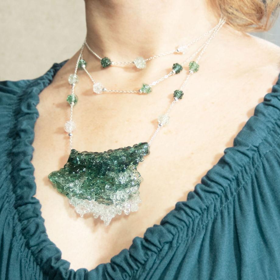 Ожерелье Прибрежные волны (цвет морской волны)