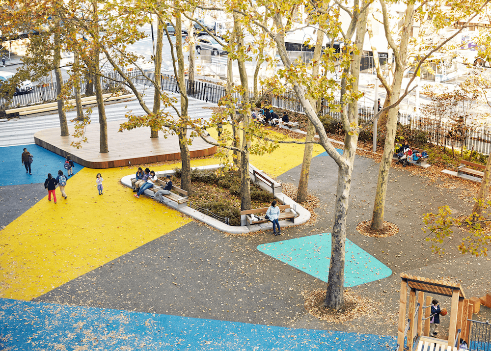 East Harlem Play-za, playground and plaza space public space.
