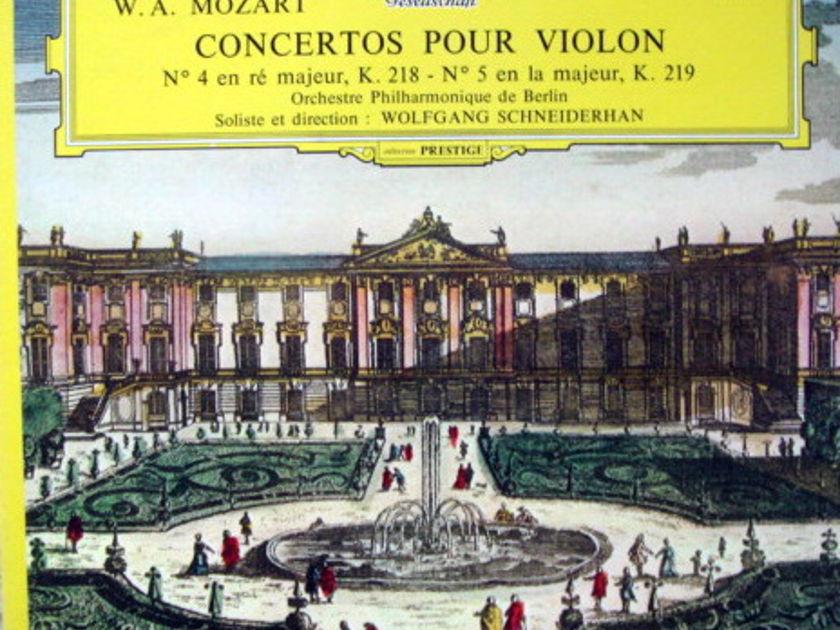 DGG / Mozart Violin Concertos No.4 & 5, - SCHNEIDERHAN/BPO, MINT, French Press!