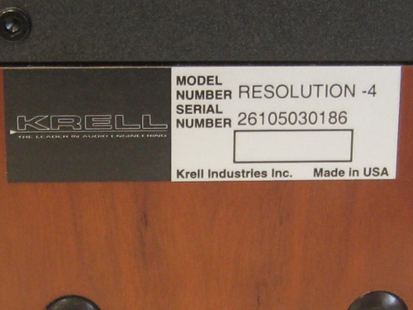 Krell Resolution-4 On-Wall Speakers