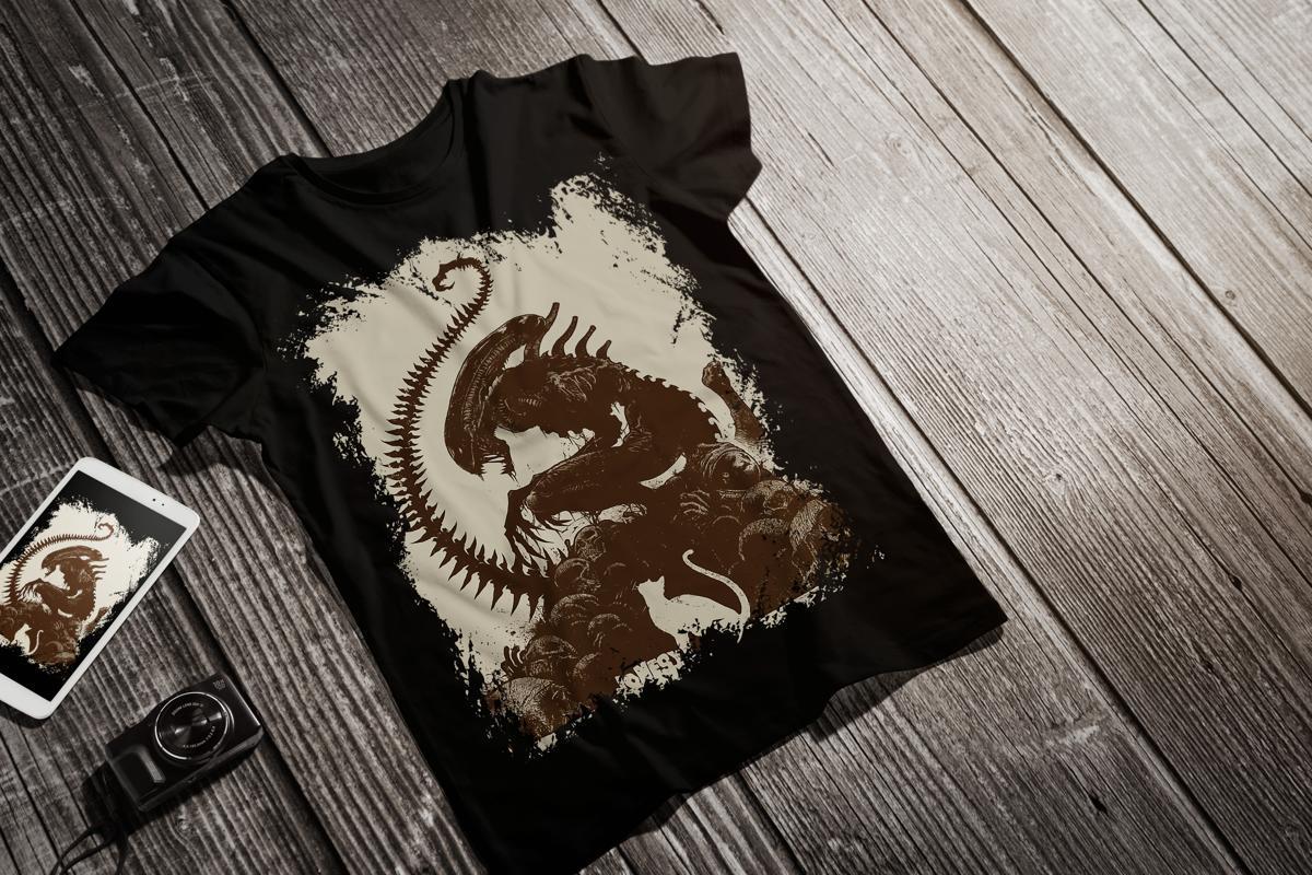 Alien T Shirt M 1x Standout District