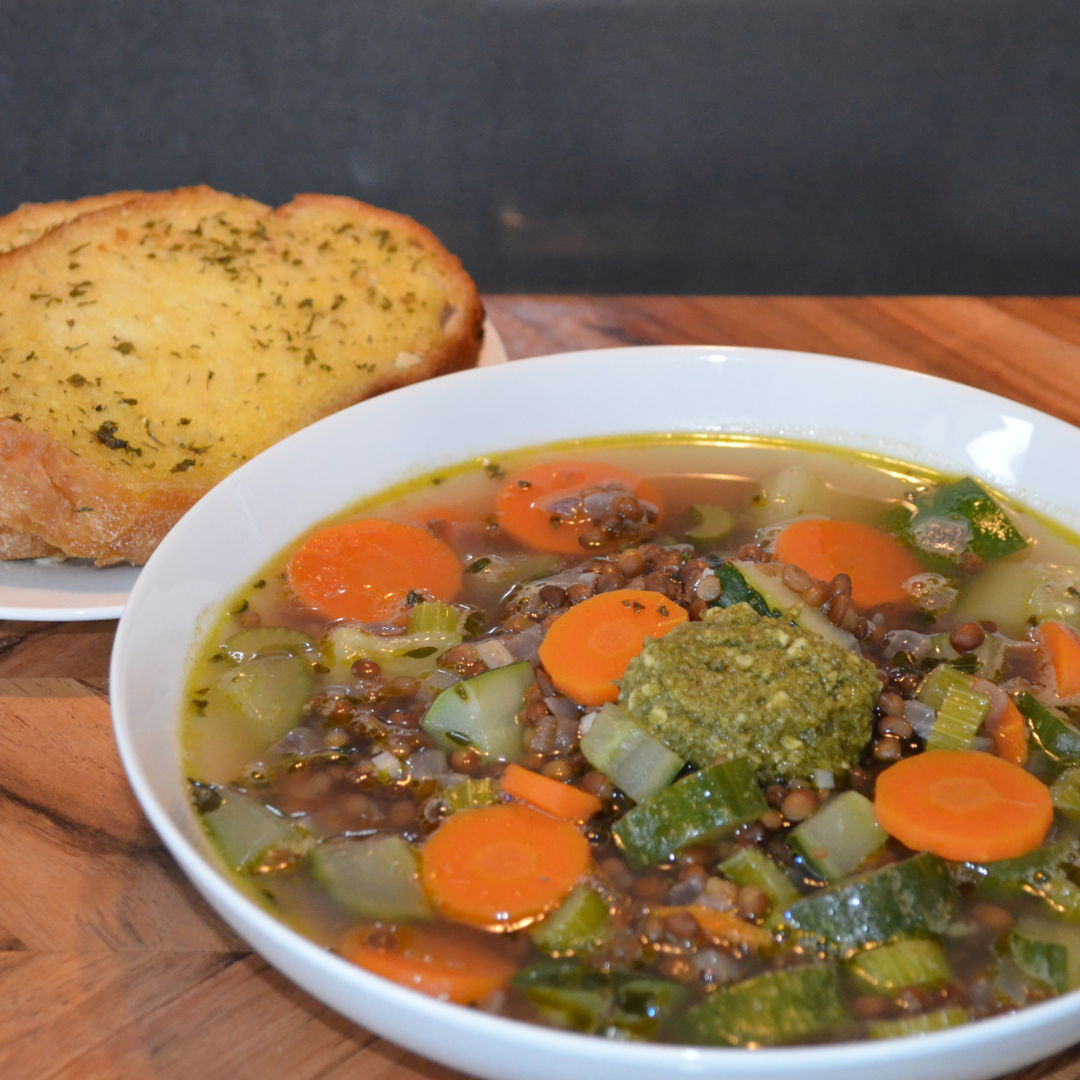 Date: 22 Apr 2020 (Wed) 09th Soup: Soupe au Pistou with Garlic Bread [315] [157.5%] [Score: 10.0] Cuisine: French Dish Type: Soup
