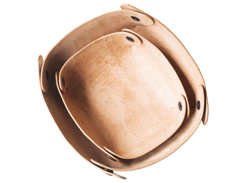 Кожаный лоток для хранения