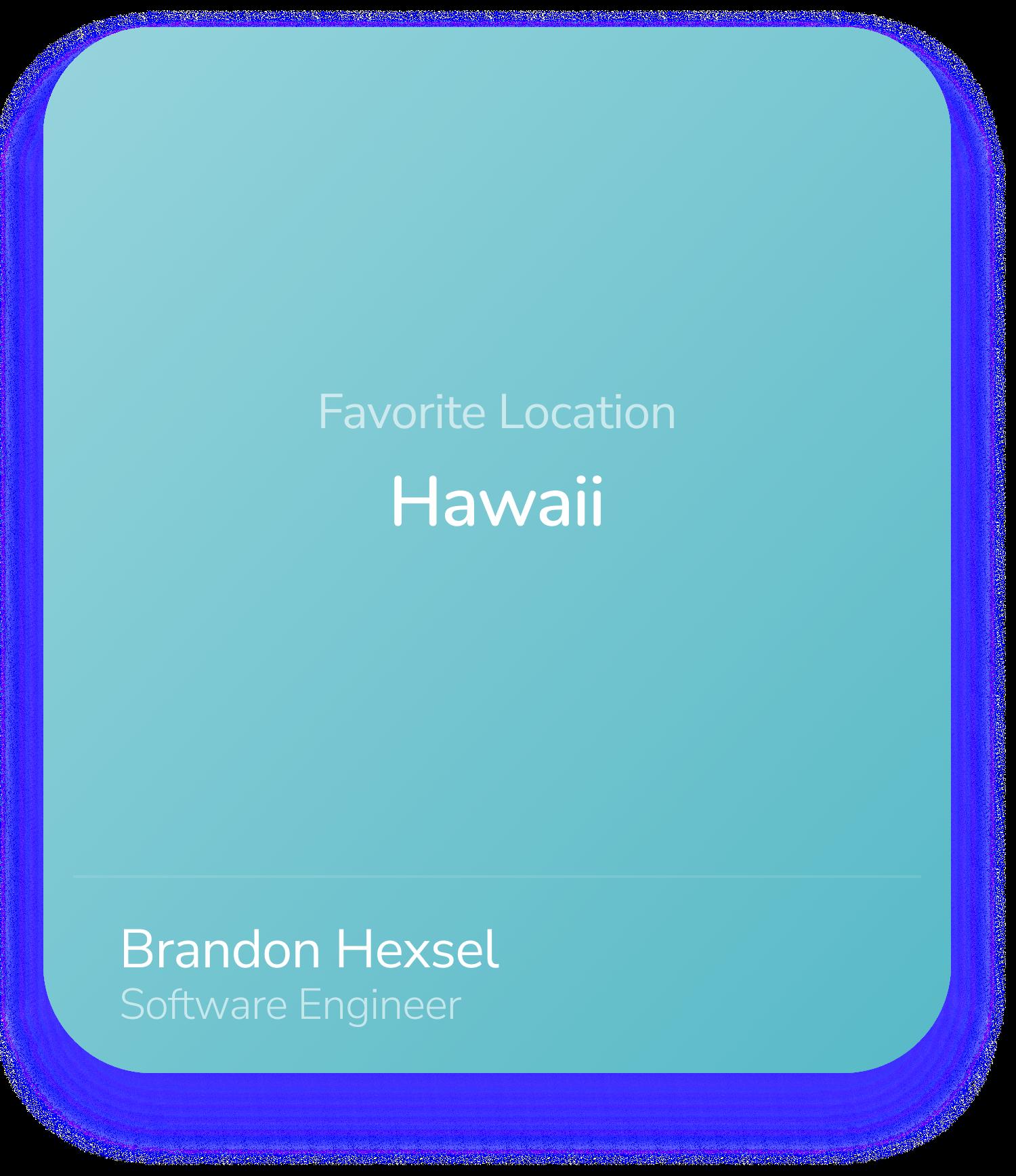 Brandon Hexsel Software Engineer