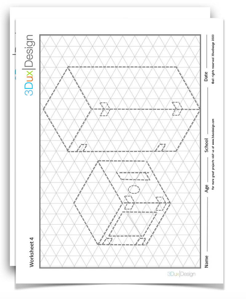 isometric graph paper and worksheets for students