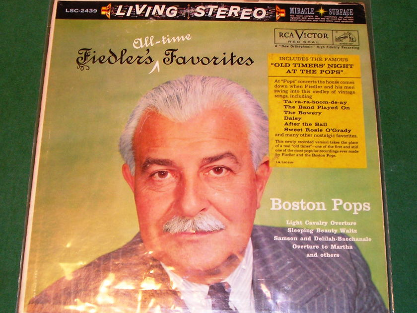 """BOSTON POPS  """"FIEDLER'S ALL-TIME FAVORITES - 1960 RCA RED SEAL/SHADED DOG 1S/A1 PRESS * NM  9/10 *"""