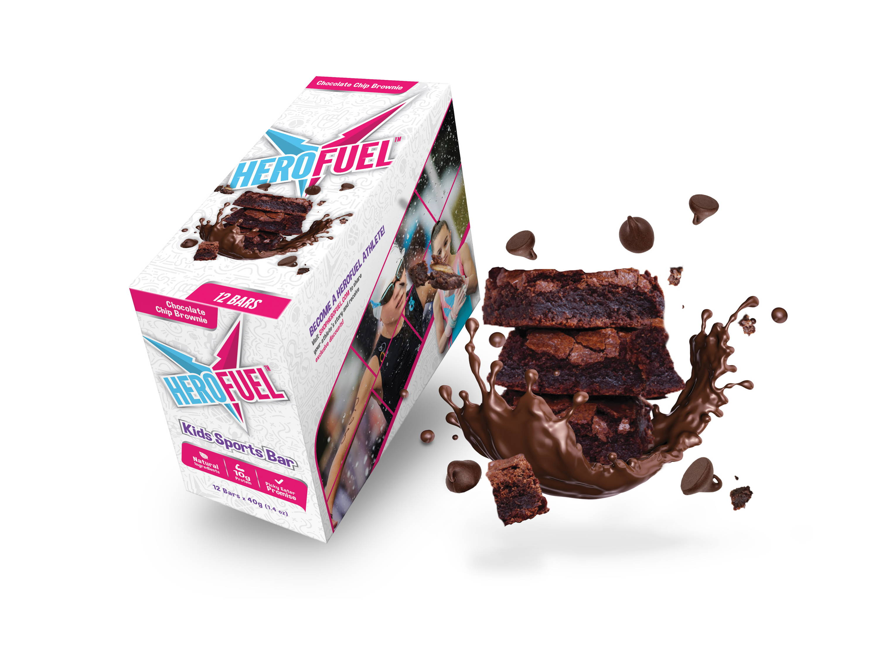 Herofuel Chocolate Chip Brownie