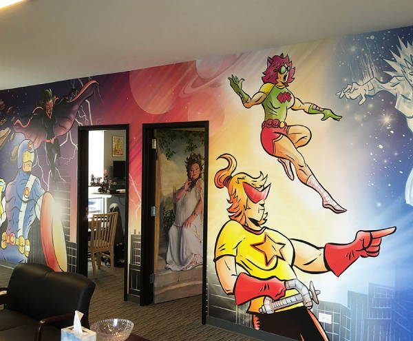 Interior Vinyl Wall Wrap -  Cartoon Heroes Wall wrap