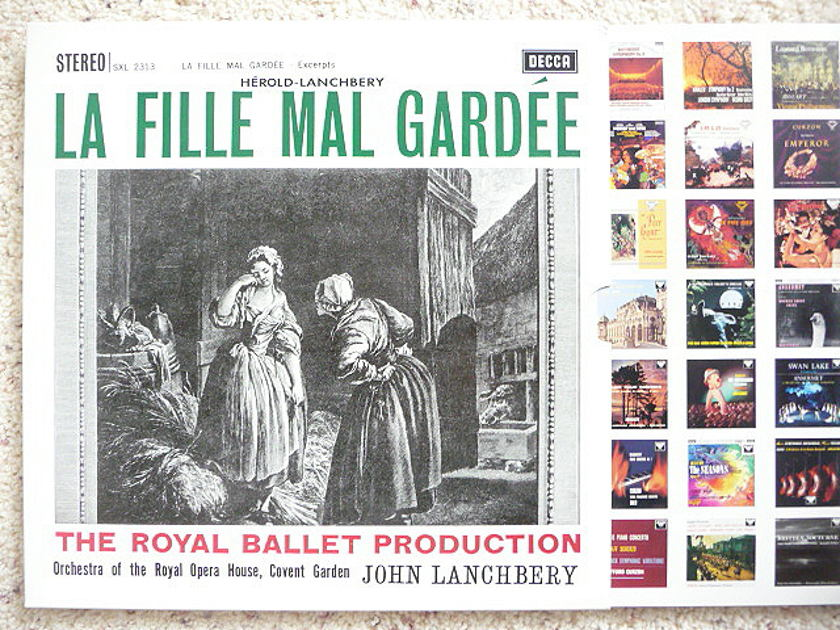 JOHN LANCHBERY  - LA FILLE MAL GARDEE DECCA LPs AS NEW