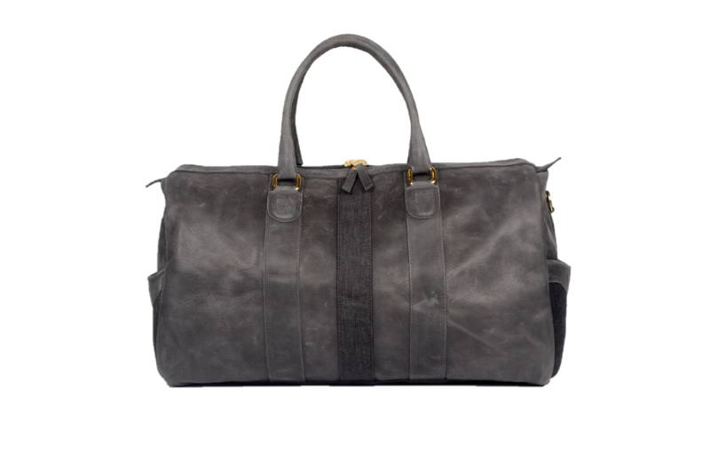 Ossington Black Leather Weekender monte & coe