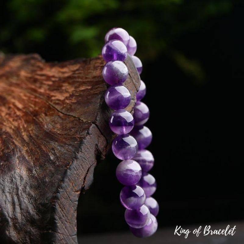 Bracelet en Perles d'Améthyste Naturelle - King of Bracelet