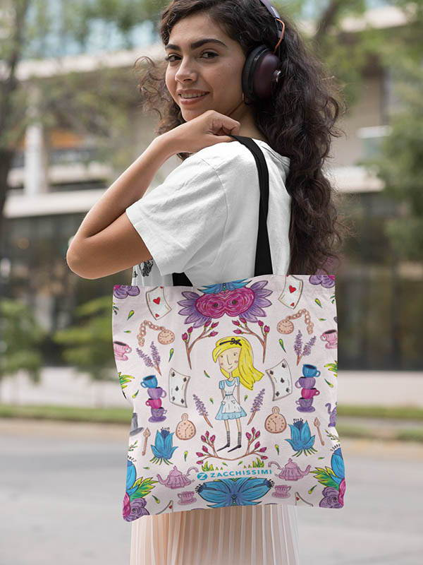 Zacchissimi Alice in Wonderland Tote Bag