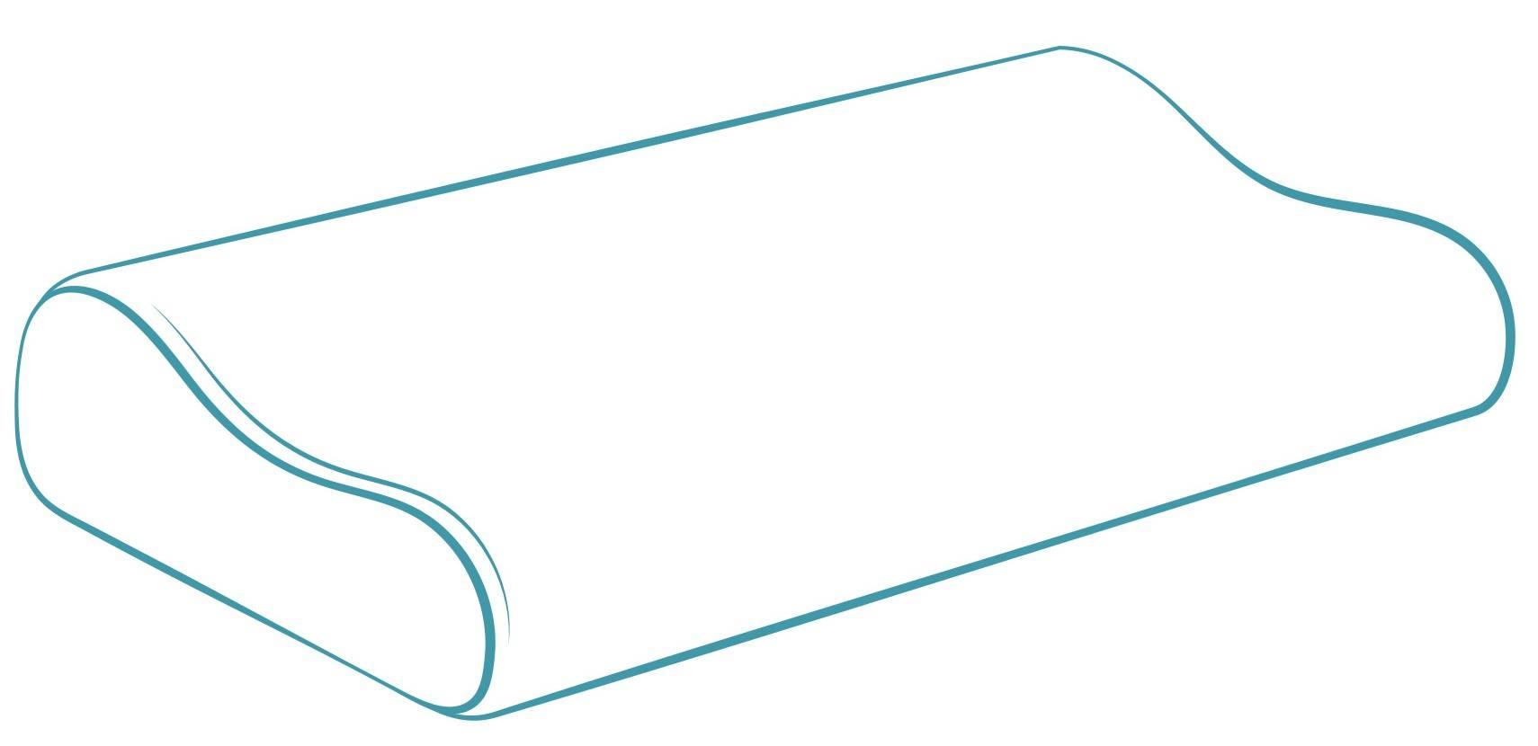 Ergonomisches Kopfkissen S-Form