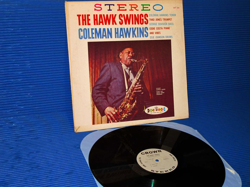 "COLEMAN HAWKINS  - ""The Hawk Swings"" - Crown Records 1962"