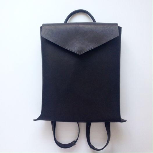 Кожаный рюкзак Envelope Black