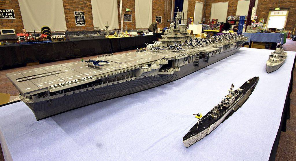 LEGO Uss Intrepid Sculpture