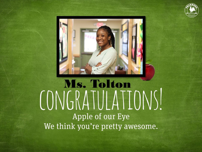 Congratulations on being our October Apple of Our Eye!
