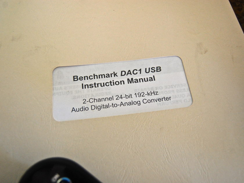 Benchmark Media Systems DAC 1 HDR Exceptionally clean, w/silver faceplate