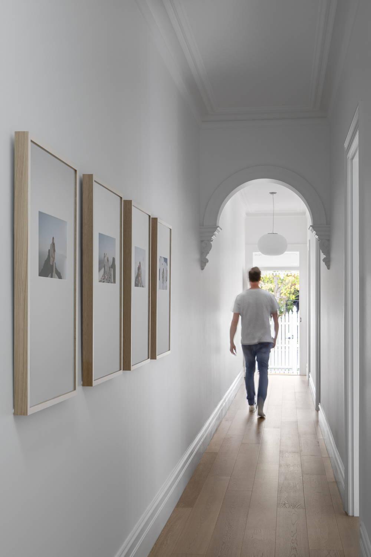 Framed wedding photography in a beautiful hallway