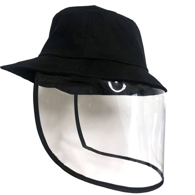 Anti-spatter-face-eyes-hat-protection-Anti-dust with mask-shield-Transparent-chapoo-details-1