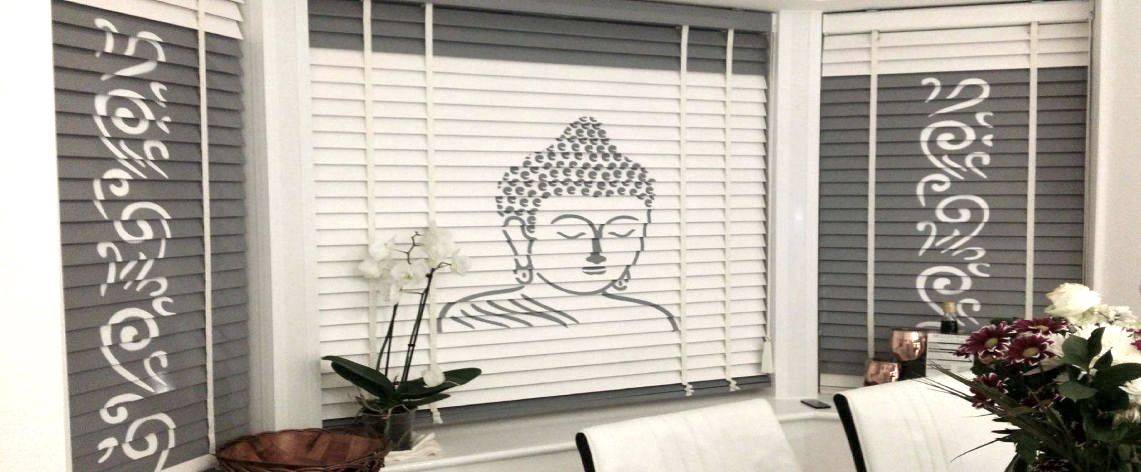 custom made printed timber venetian blinds online