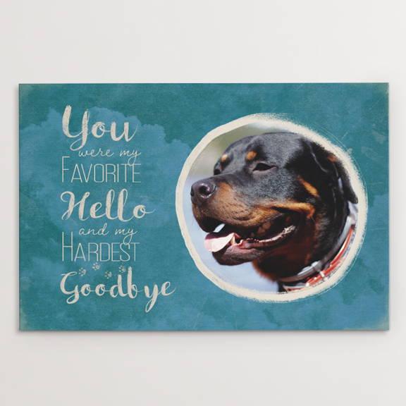 You Were My Favorite Hello, Dog Memorial, Labrador