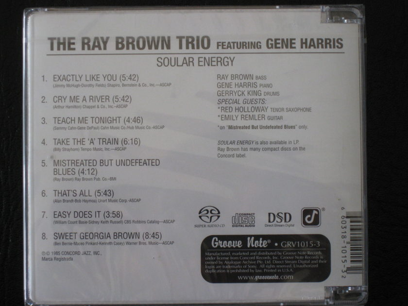 Ray Brown Trio - Soular Energy  - Hybrid SACD - GRV1015-3 - BRAND NEW